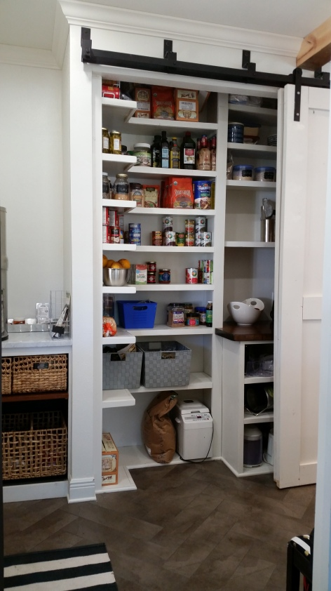 Bypass barn door pantry for Pantry barn door hardware